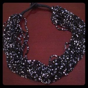 Beautiful black beaded necklace!